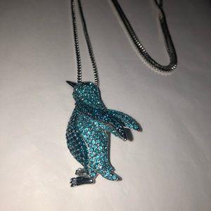 Penguin necklace & brooch